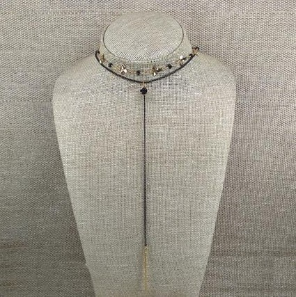 Golden, layered Lariat Choker from Grab Your Garb