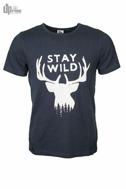 T-shirt Stay Wild blauw from Green Lily