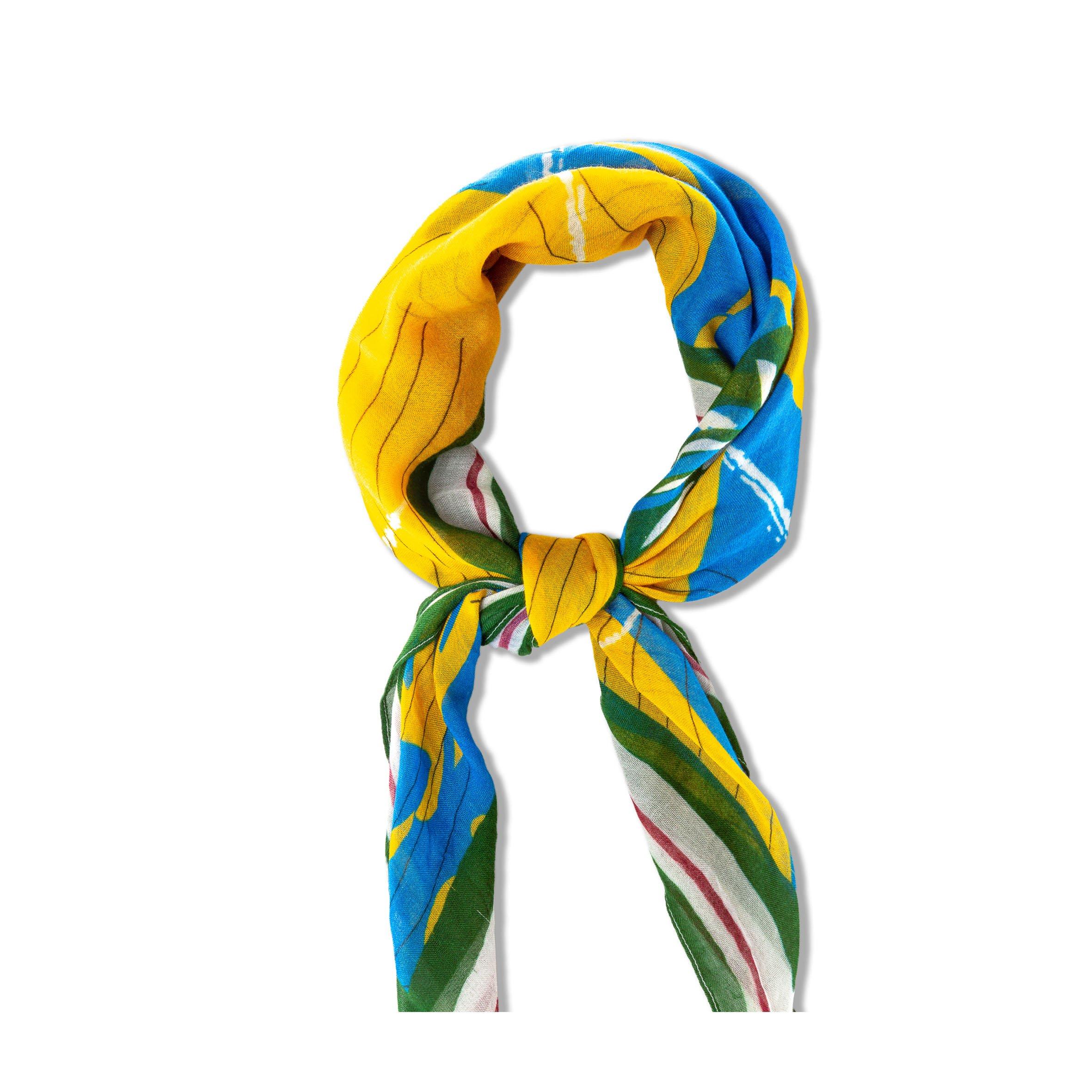 Headscarf Asmara Yellow & Blue from hatsup