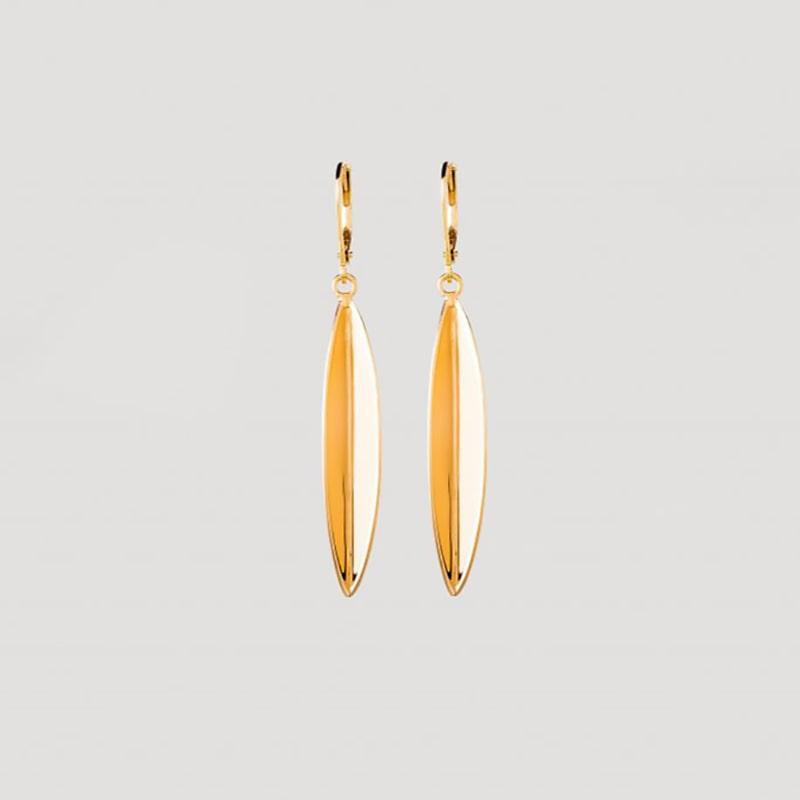 Olive leaf earrings gold from Julia Otilia