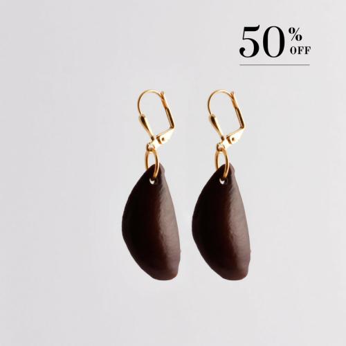 Aleta seed earrings gold 50% SALE from Julia Otilia