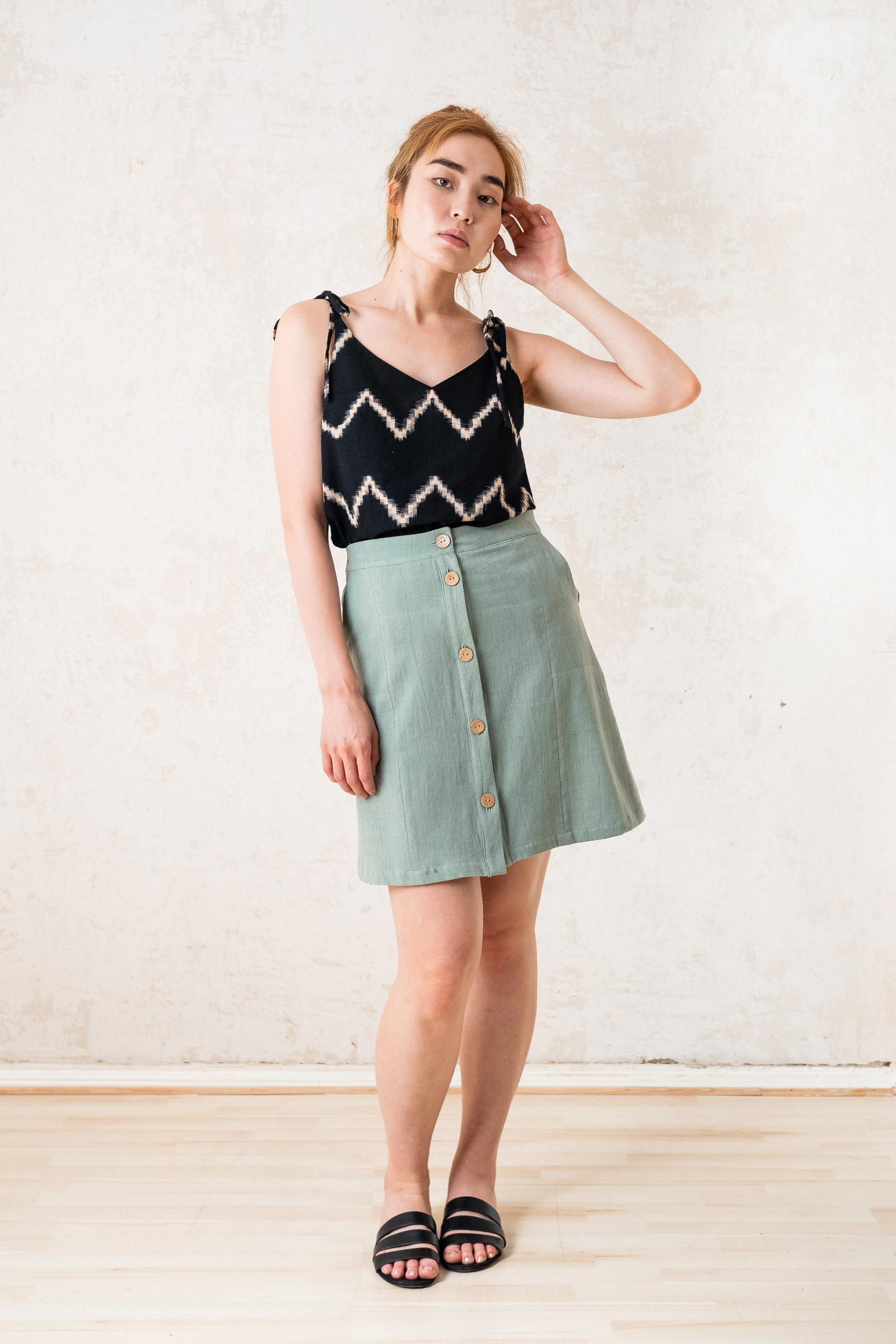 Skirt Raju Light_green from Jyoti - Fair Works