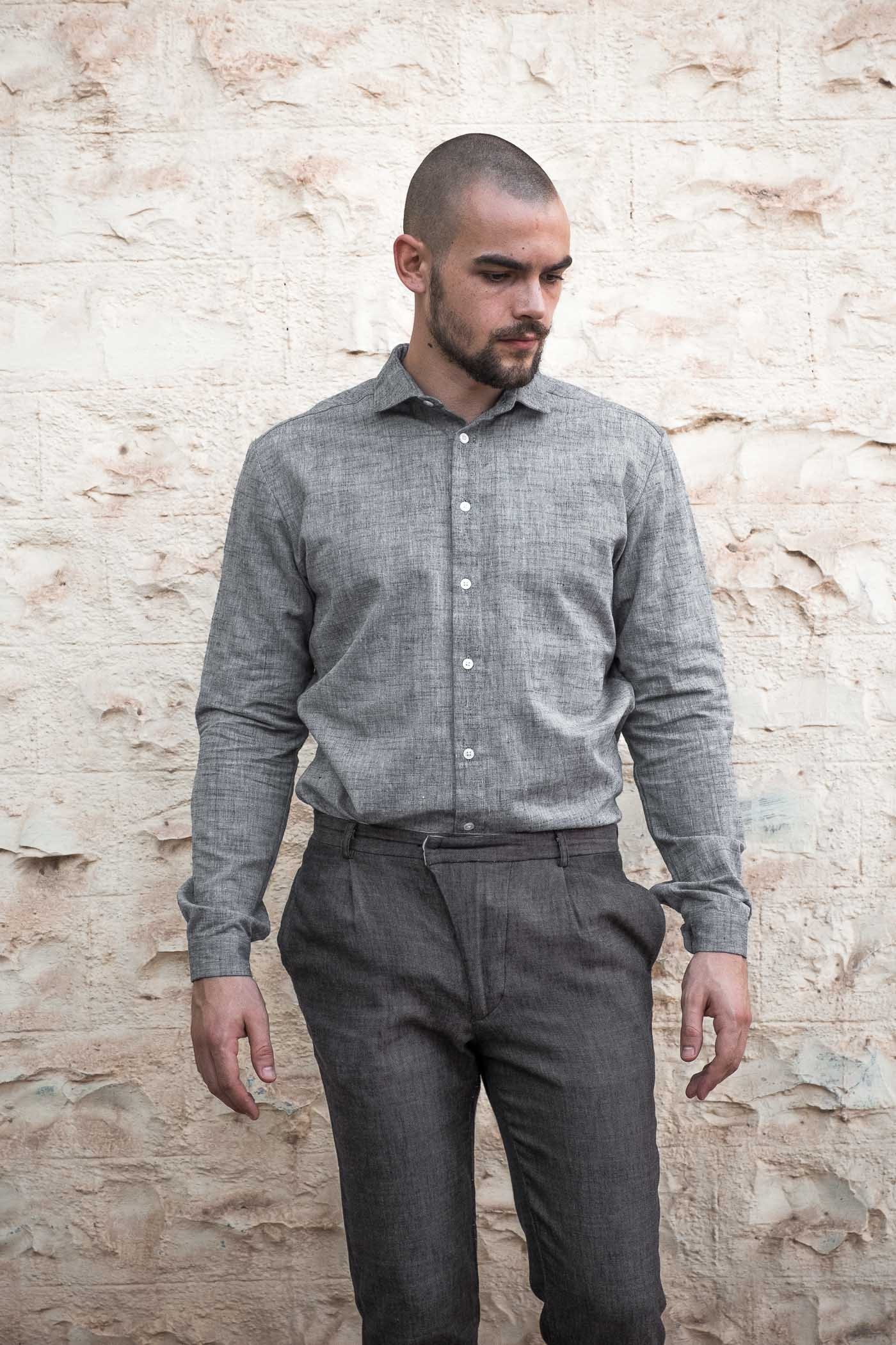 Shirt Himat Grey from Jyoti - Fair Works