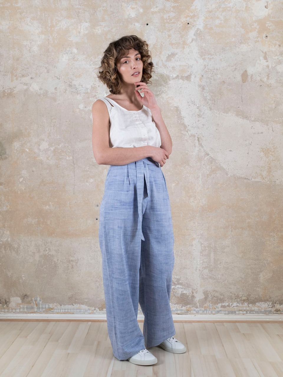 Trousers Hamina  Dustyblue from Jyoti - Fair Works