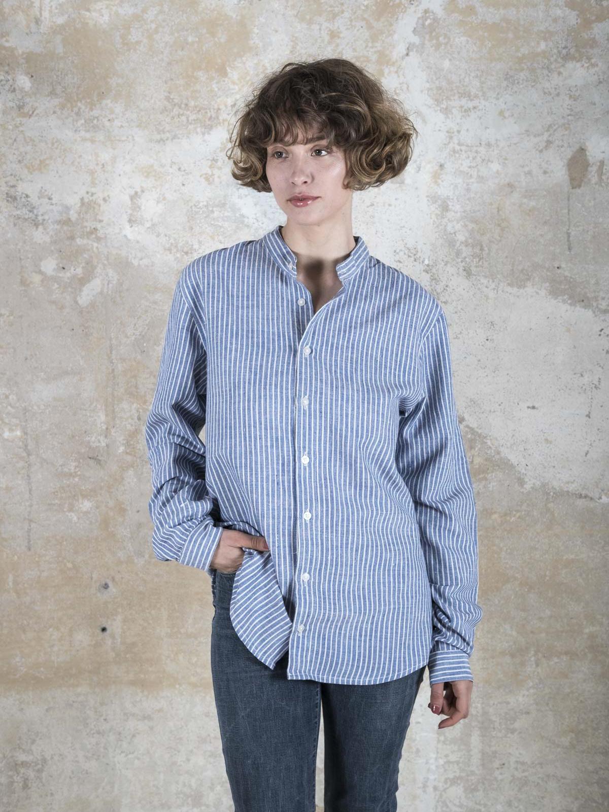 Shirt Harish Widestriped_blue from Jyoti - Fair Works