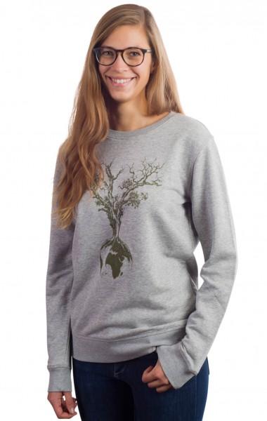Fairwear Organic Sweater Women Heather Grey Weltenbaum from Life-Tree