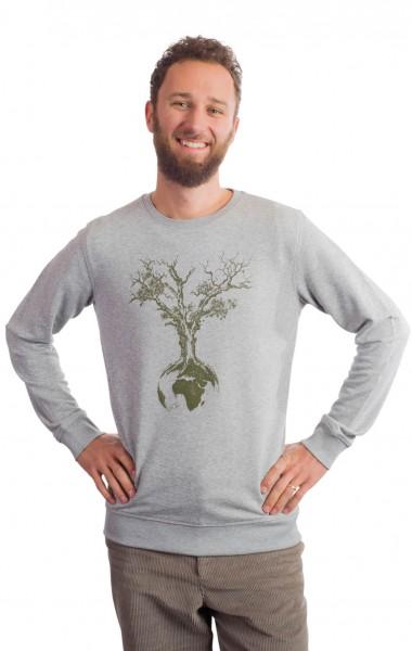 Fairwear Organic Sweater Men Heather Grey Weltenbaum from Life-Tree