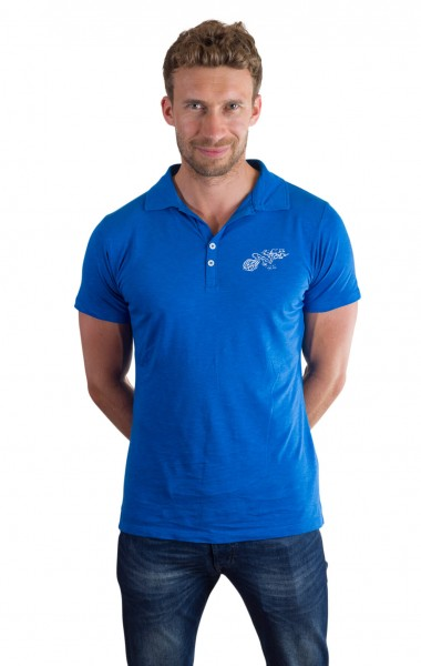 Fairwear Modal Polo Men Blue from Life-Tree
