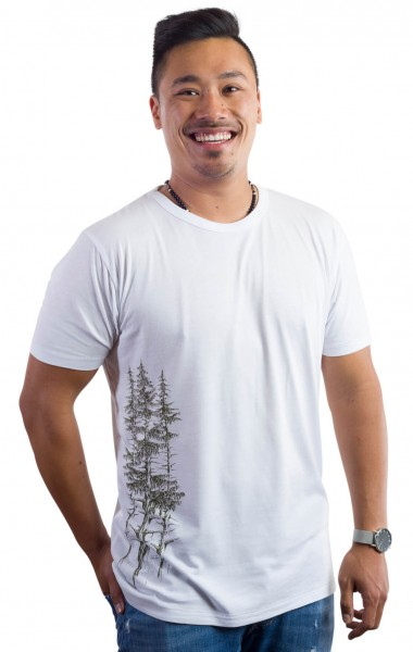 Fairwear Bamboo Shirt Men White Fichtenwald from Life-Tree