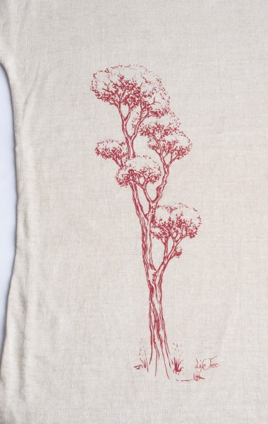 Fairwear Hemp Shirt Women Rising from Life-Tree
