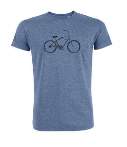 Duurzaam  T shirt beach cruiser blauw from Lotika