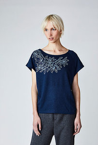 Bio shirt Kelly Scandinavian blue from Lotika