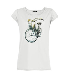 Sale Bio shirt birdie bike wit from Lotika