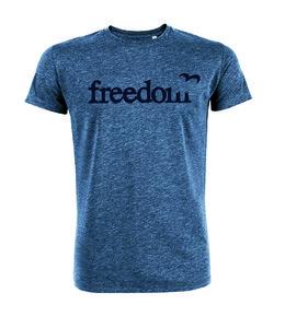 Sale Duurzaam  T shirt Freedom blauw from Lotika