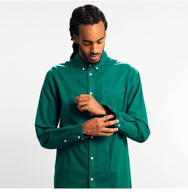 Donkergroen Overhemd.Project Cece Varberg Duurzaam Overhemd Donkergroen
