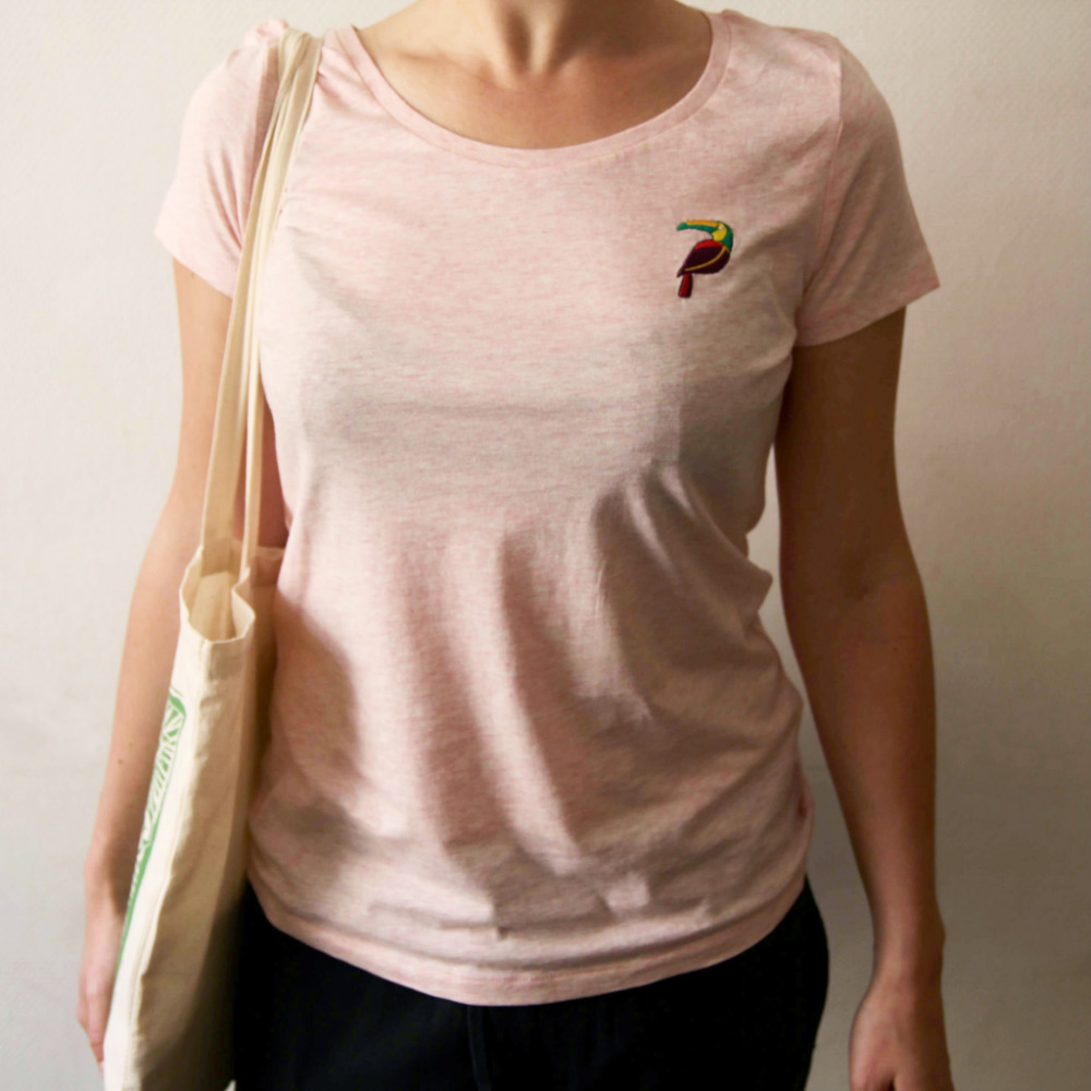 Duurzaam Roze T-shirt Toekan from Mae Sue
