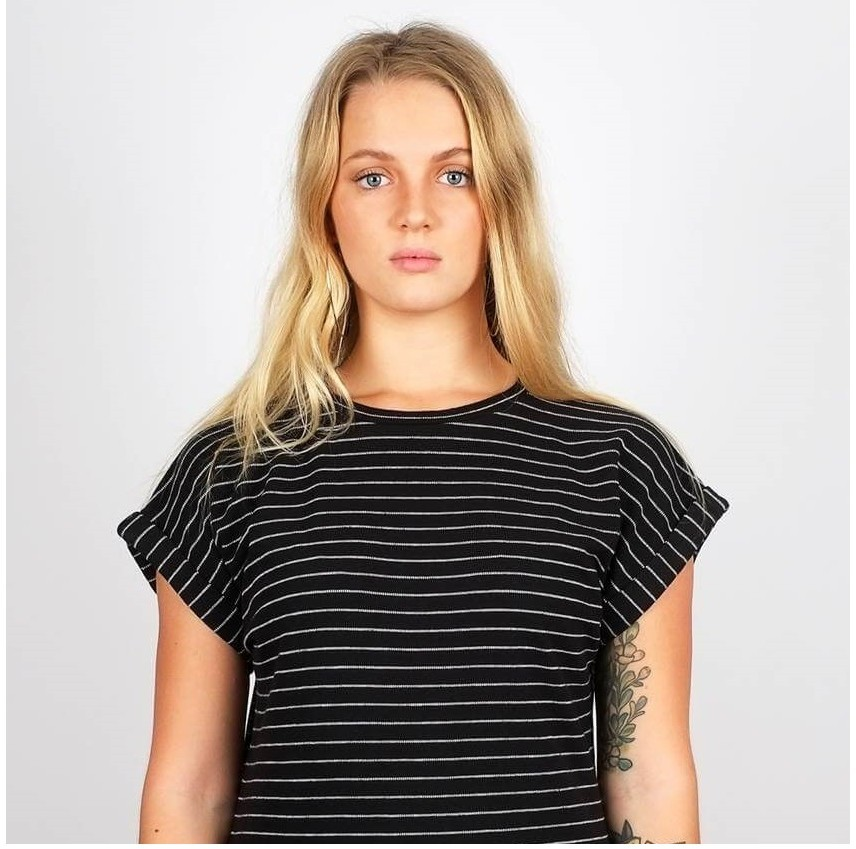 Eco T-shirt Zwart Wit Strepen from Mae Sue