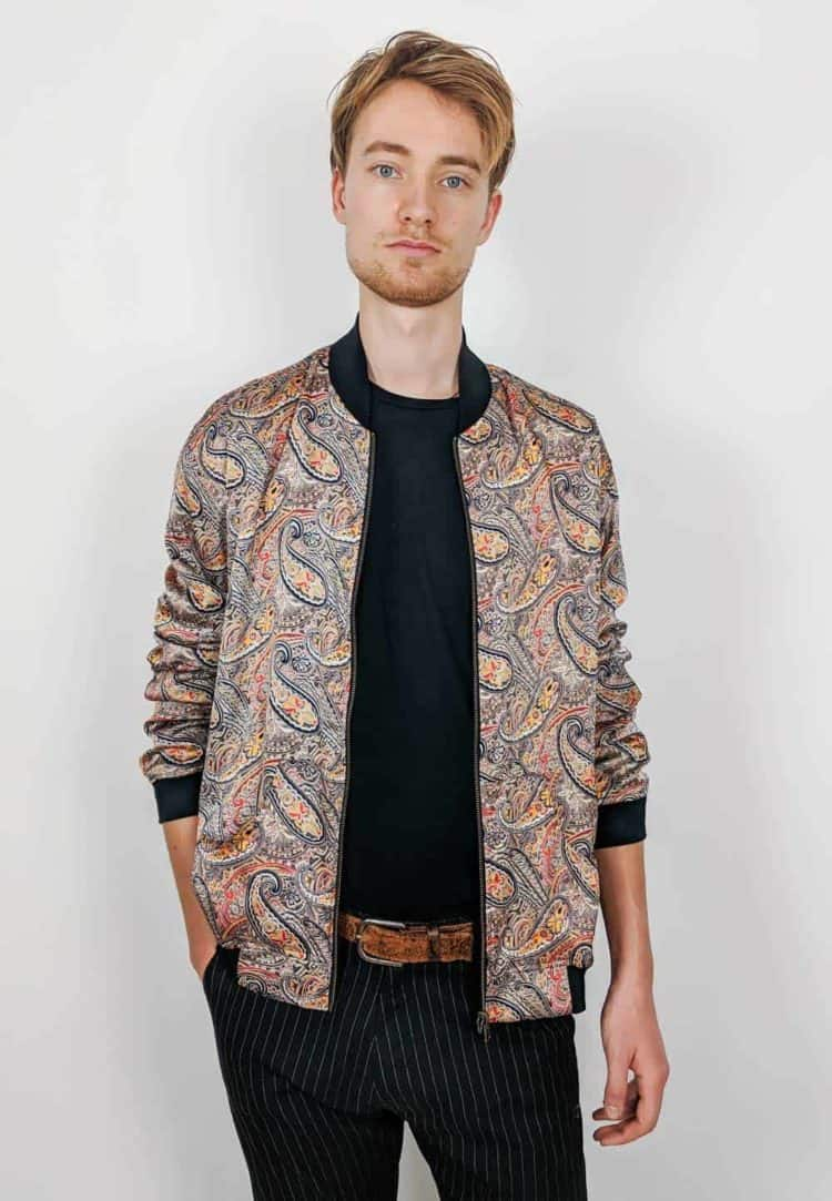 Bomber Wendejacke Yellow Paisley Men from Malimo