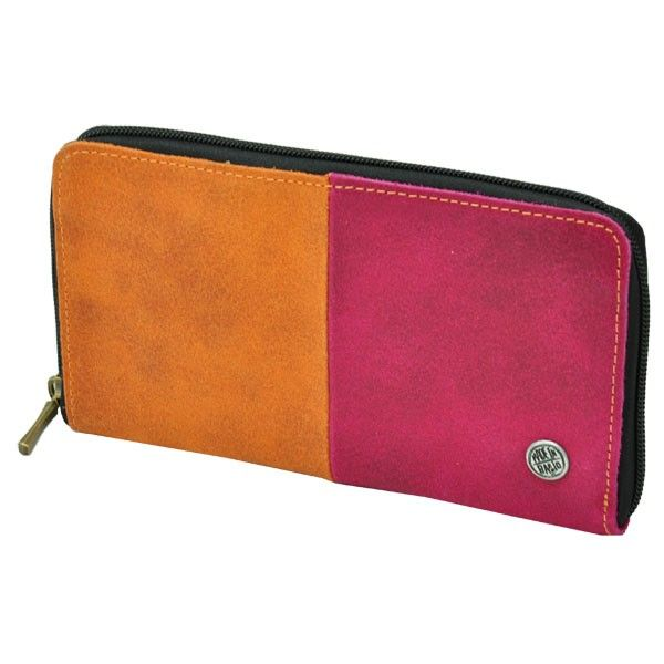 Banca - grote dames portefeuille ecoleer  oranje-fuchsia from MoreThanHip