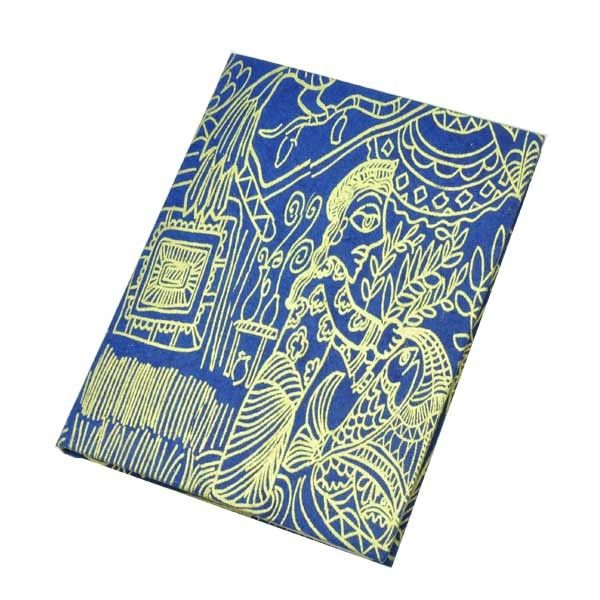 Lokta papier notitieboekje 'Mithila' A5 - blauw from MoreThanHip