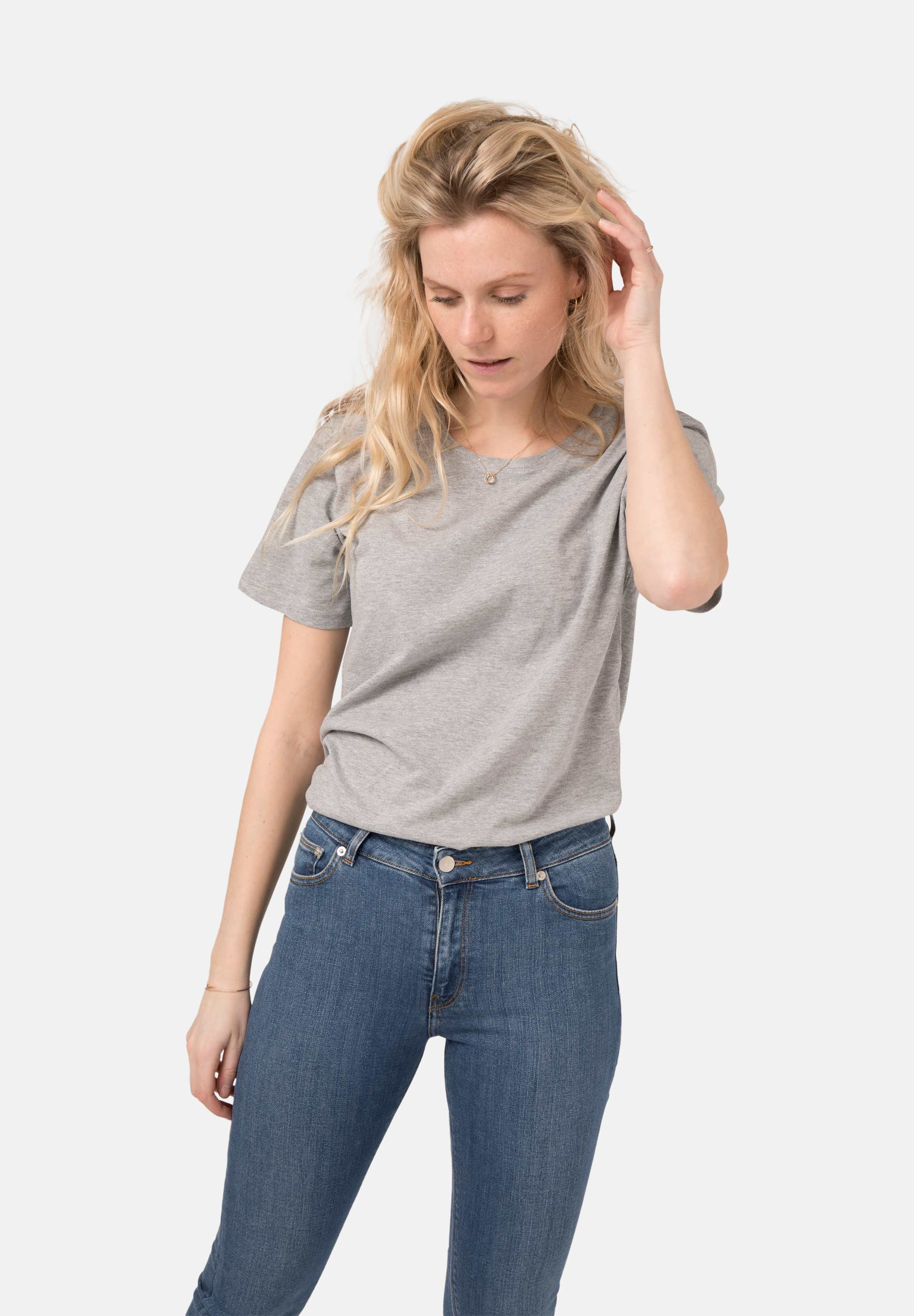 Roundneck T-Shirt  / Silver Grey from Mud Jeans
