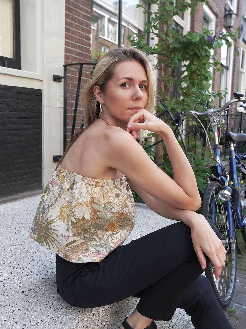 Flowered Ruffle Top from Noumenon