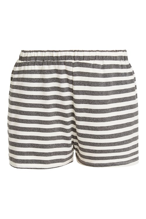 Stripe Grey Pyjama Shorts from People Tree