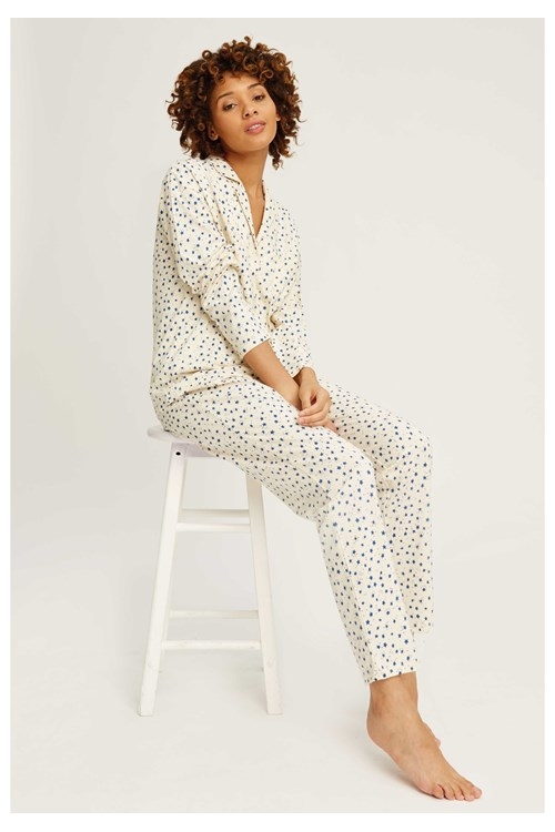 Stars Pyjama Trousers in Cream from People Tree
