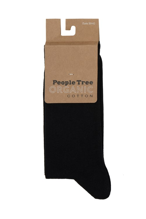 Organic Cotton Socks in Black from People Tree