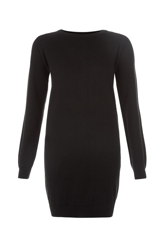 Keisha Knitted Dress in Black from People Tree