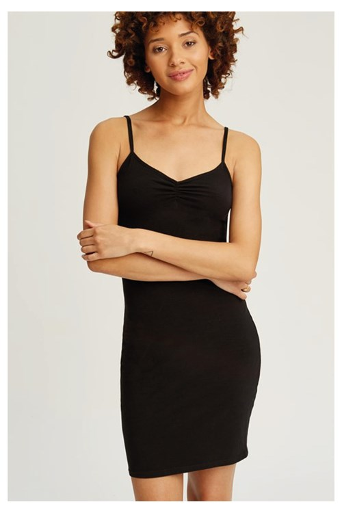 Camisole Slip Dress in Black from People Tree