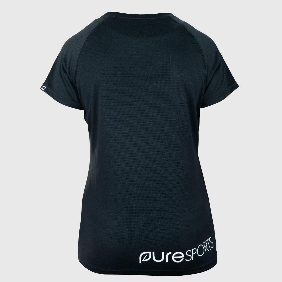 Zwart sportshirt dames – 100% gerecycled polyester from Pure Sportswear