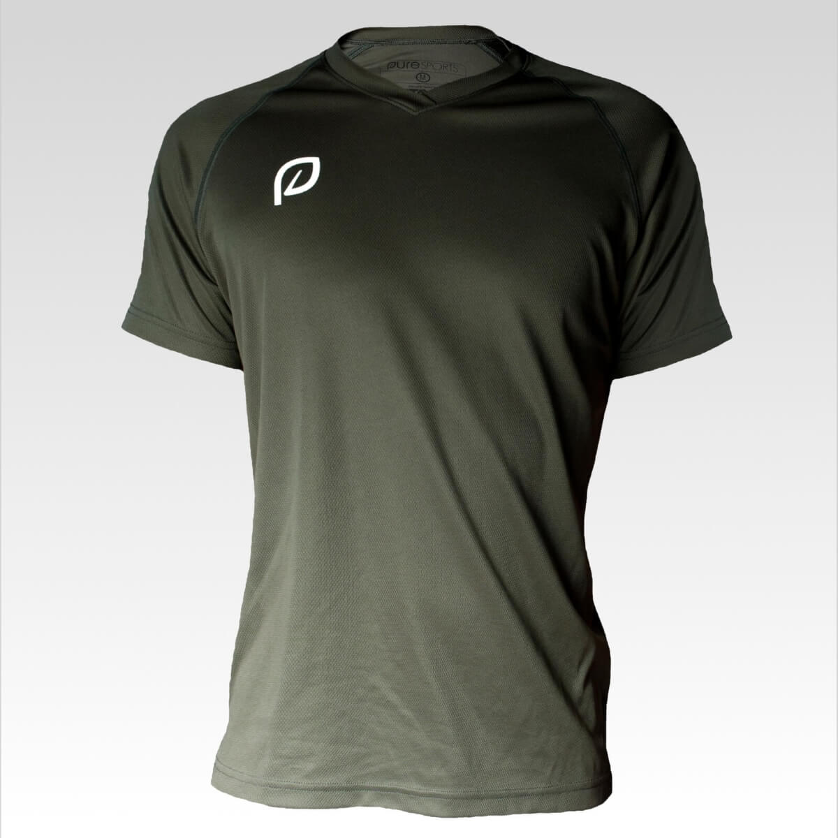 Sportshirt heren groen/bruin - 100% gerecycled polyester from Pure Sportswear