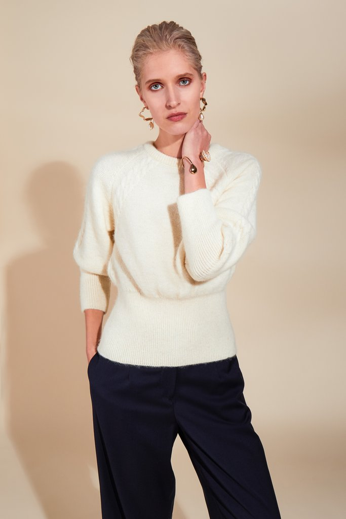 FAIR CREAM JUMPER from Rhumaa