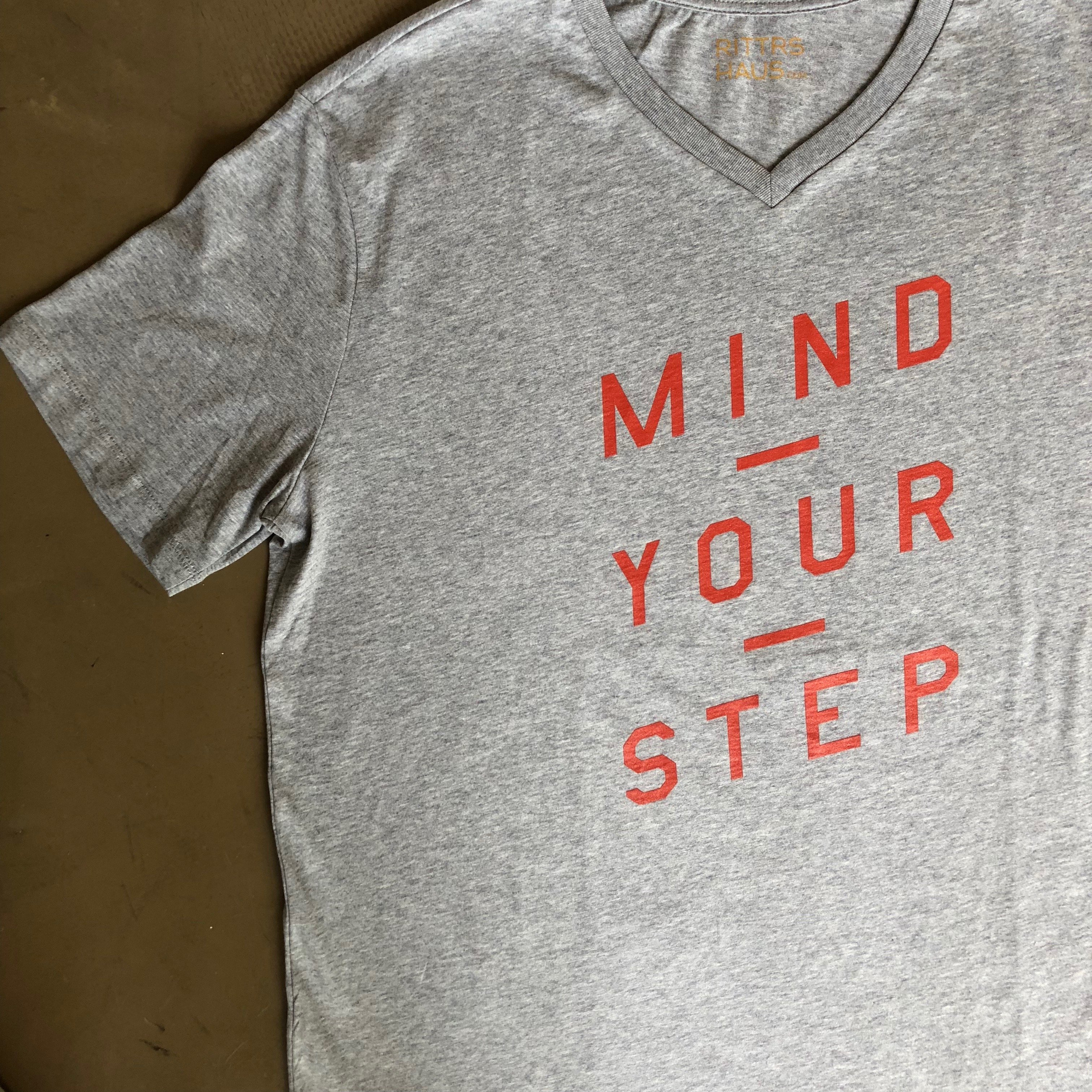 Unisex T-SHIRT, Mind Your Step from RITTRSHAUS