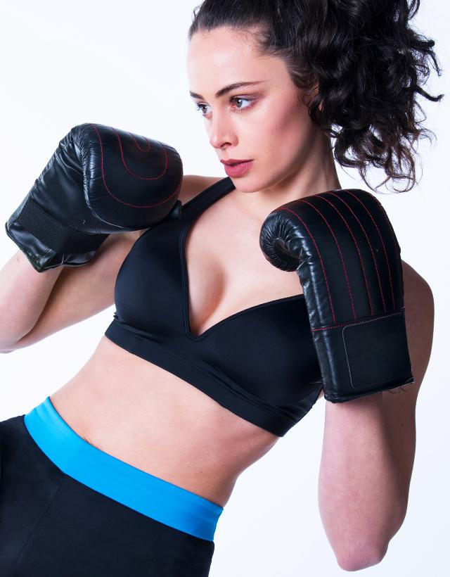 Black Sports Bra Leilani         Gym To Swim® from RubyMoon