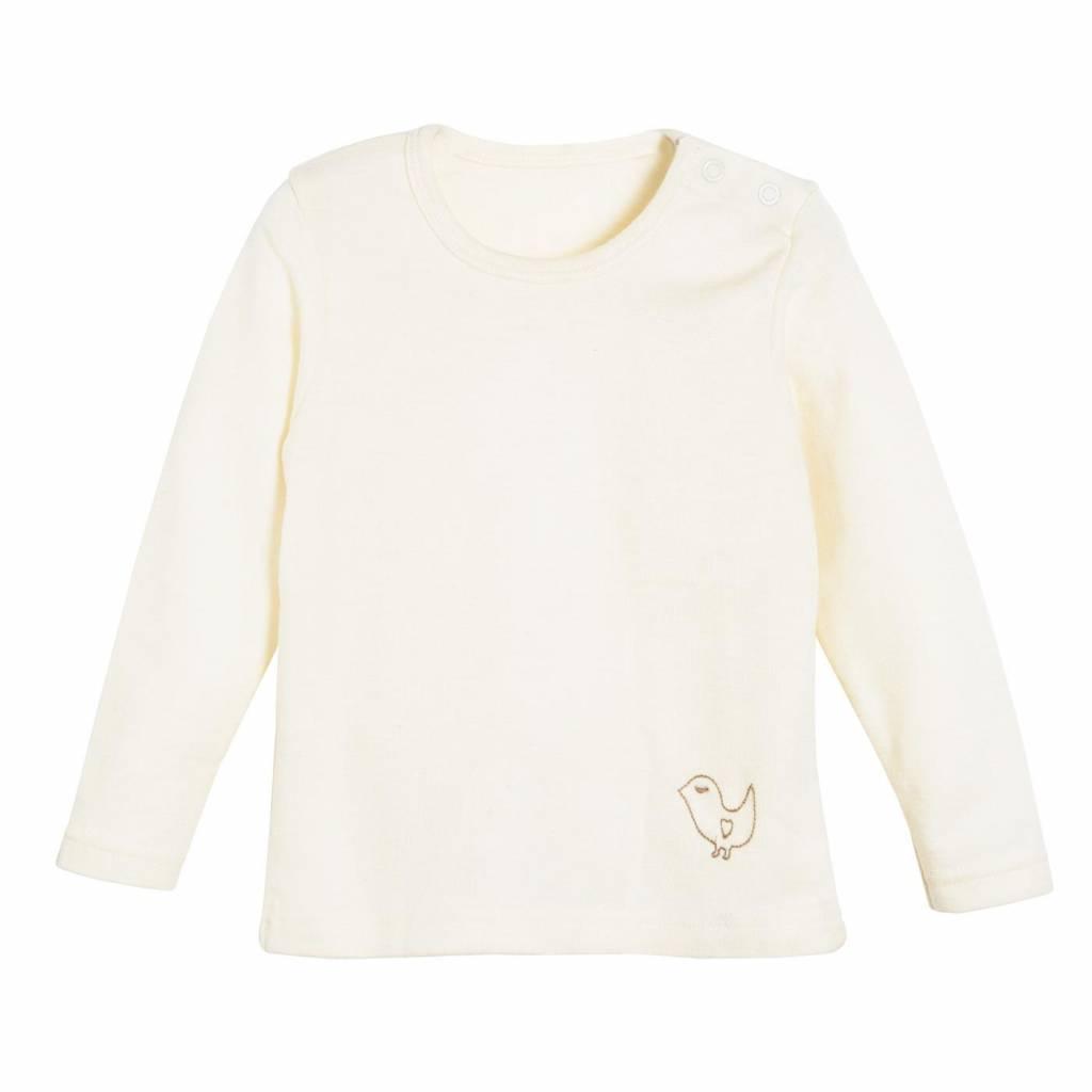 Living Crafts Babyhemd ronde hals wol/zijde from Schaapskleren