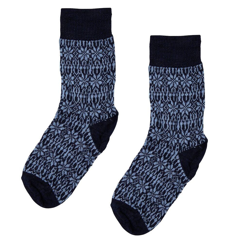 Hirsch Natur Wollen sokken met sterren kinderen from Schaapskleren