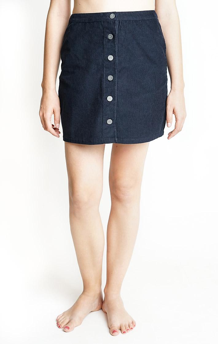 dark blue cord skirt from Silfir