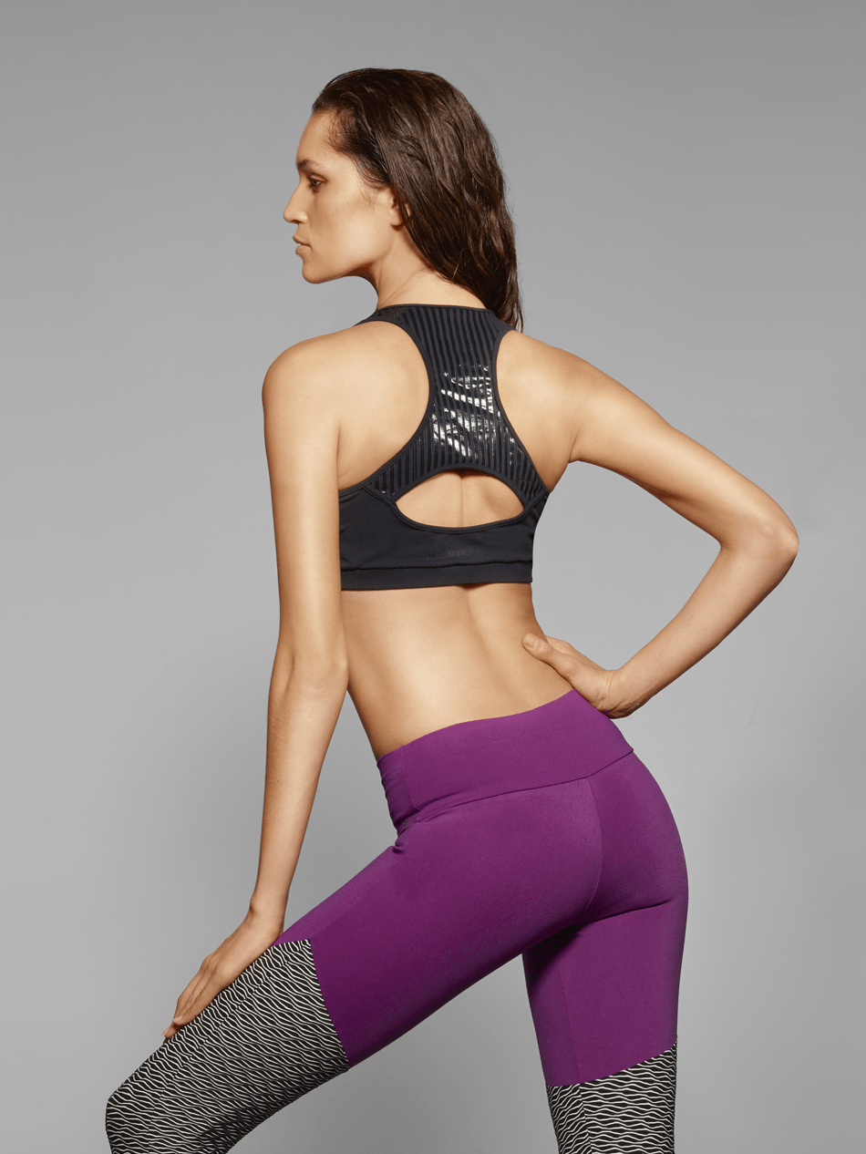 Metallic and Mesh Sports Bra from SixtyNinety