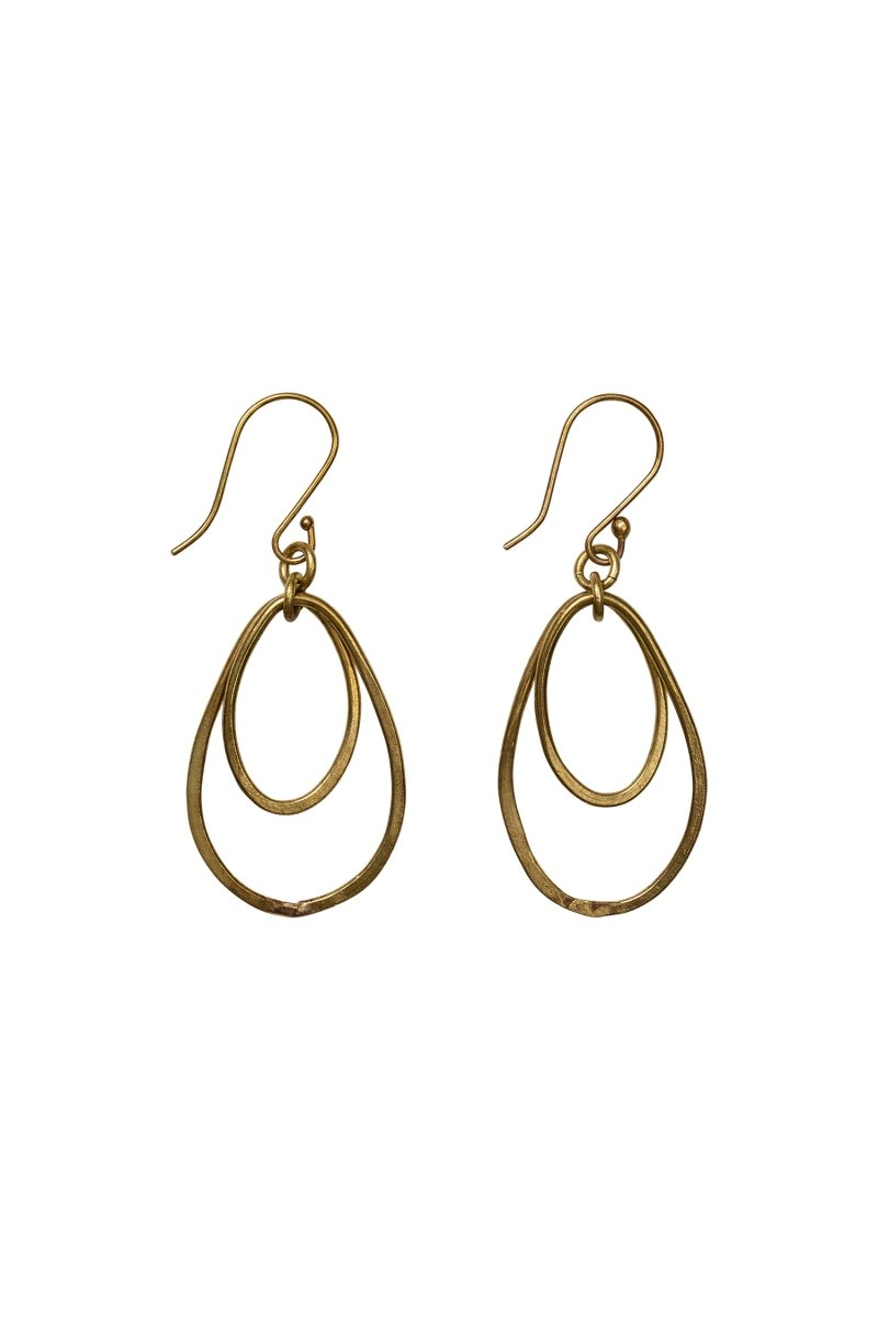 Oval drop brass from Sophie Stone