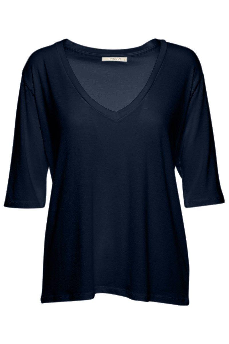 Shirt v-hals navy from Sophie Stone