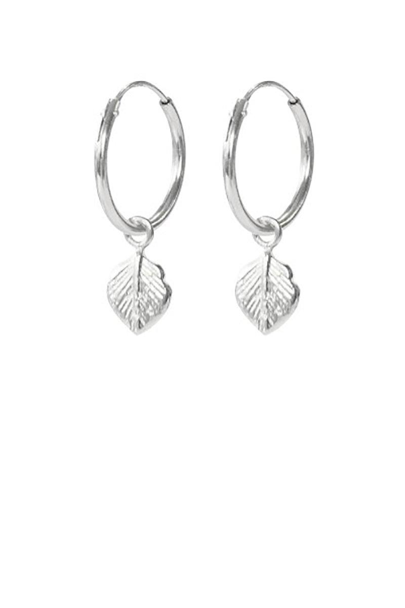 Leaf earrings silver from Sophie Stone