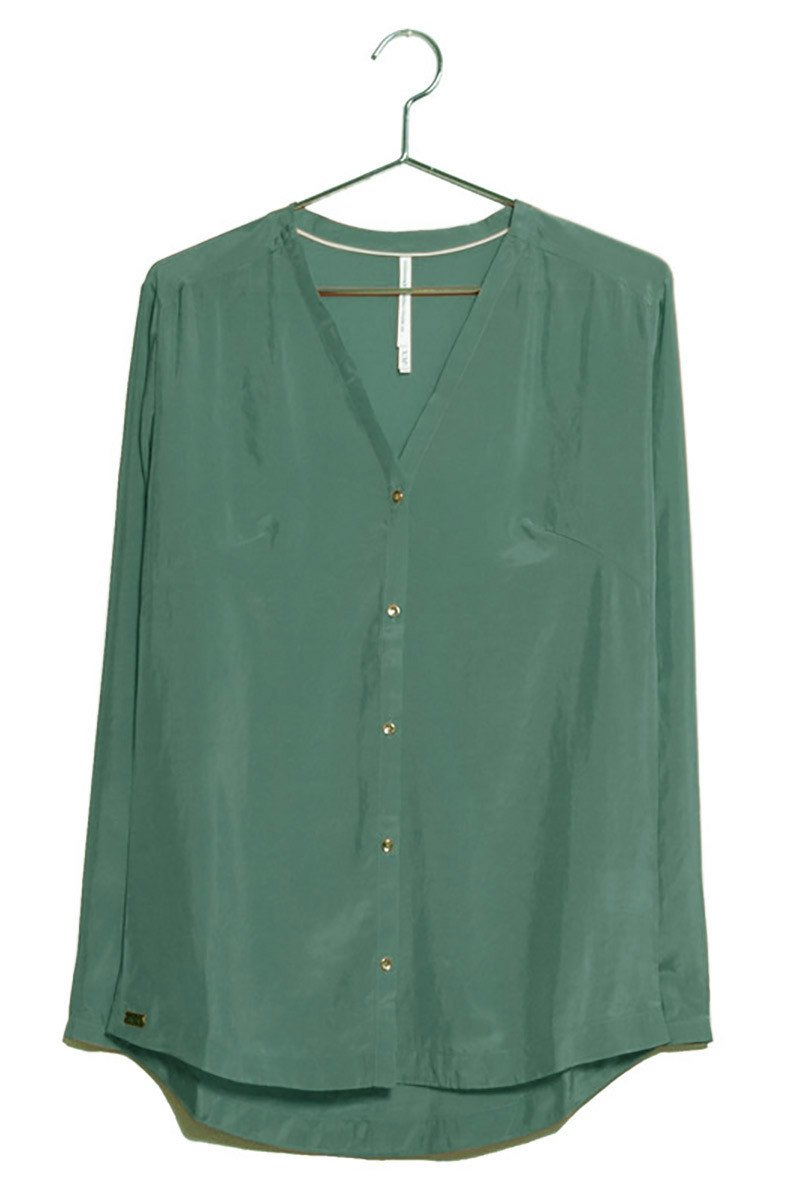 V-hals blouse groen from Sophie Stone