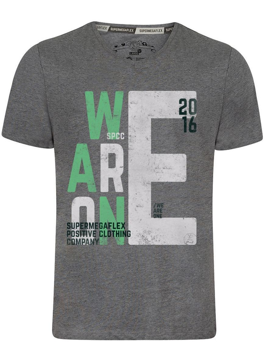 Organic tshirt - We are one - gray from Supermegaflex