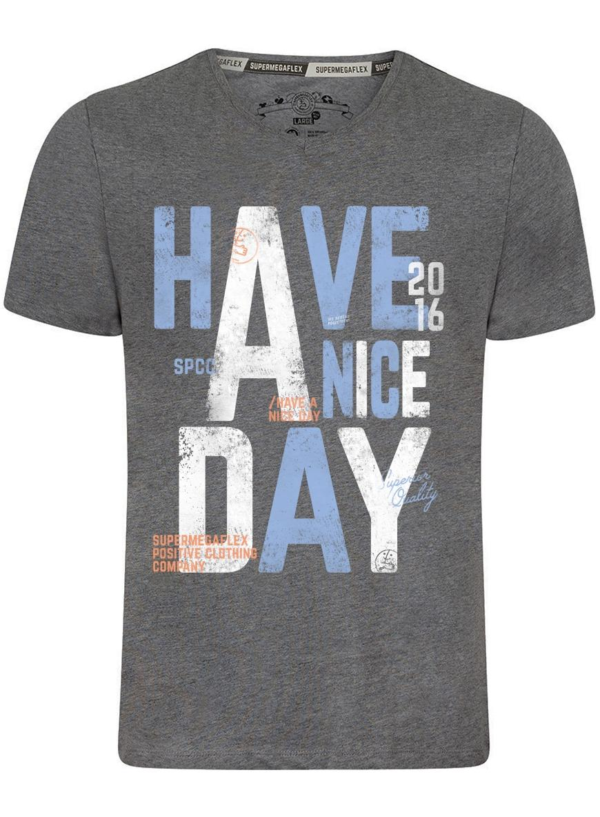 Organic tshirt - Have a nice day - gray from Supermegaflex