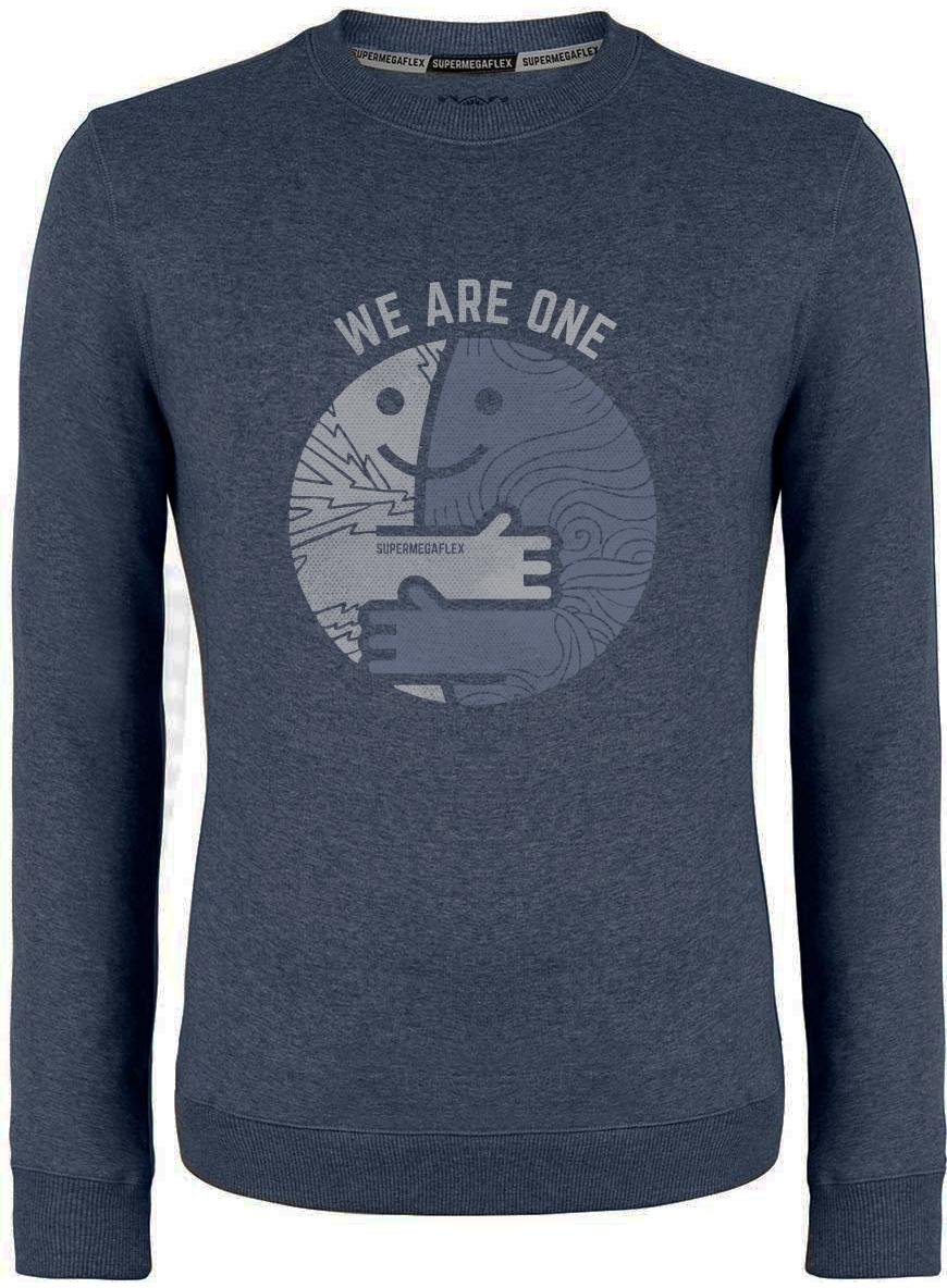 Organic sweater - We are one - blue from Supermegaflex