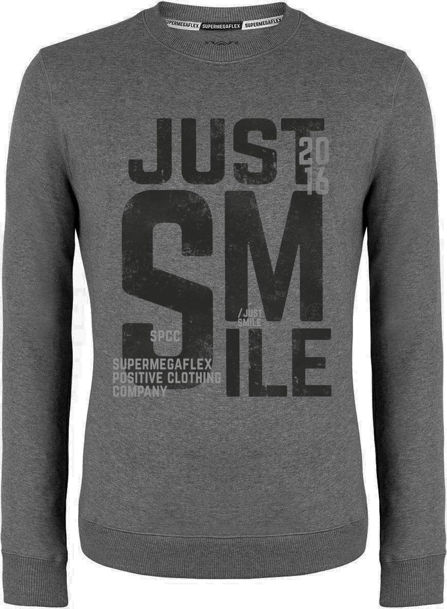 Organic sweater - Just smile - gray from Supermegaflex