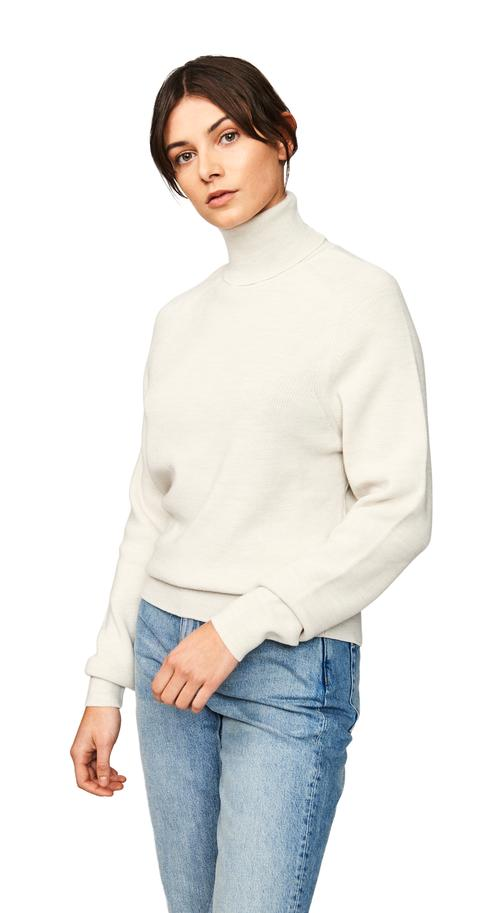 The Turtleneck Sweater - White from Teym