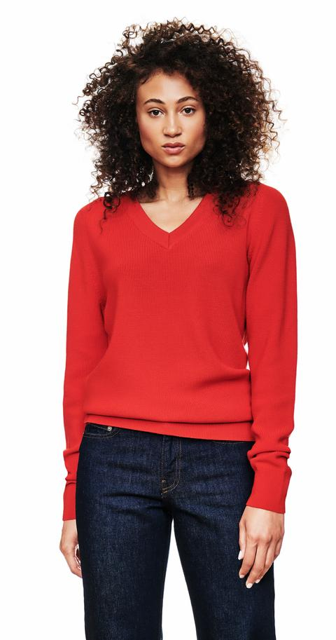 The V-Neck Sweater - Red from Teym